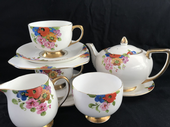 CAREWORN Carlton ware tea for two - handpainted